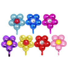 Free shipping flowers aluminum balloons birthday toys for children under the age of party balloons decorated