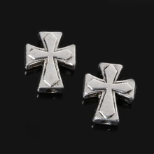 New Arrivals 11*13mm 70pcs Zinc Alloy Charms Cross Beads Antique Silver Charm Pendant Jewelry Findings Fit Jewelry DIY