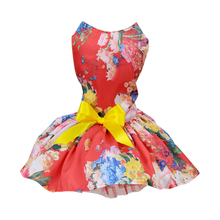 ets Dogs Puppy Cats Princess Bowknot Floral Dress Pets Costume XS/S/M/L/XL(China)