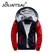 Plus Size M-5XL Autumn Winter Fashion Printing Hoodies Men Thicken Fleece Sweatshirts Patchwork Jacket Warm Men's Sportswear(China)