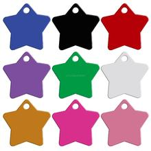 20 pcs/lot Double Sides Star Shaped Personalized Dog name ID Tags Customized Cat Phone No. Tag (Don't offer Engrave Service)