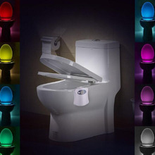 night light 8 Color Bathroom Toilet Night light Auto Body Motion Sensor Activated On/Off Seat Lamp