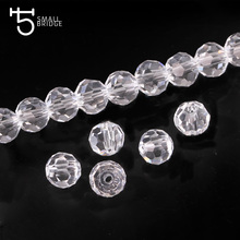 4mm Clear Quartz Football Crystal Beads Small with Holes Glass Beads Supply for Jewelry Making Decoration Wholesale Z153(China)