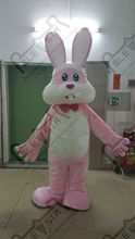 high quality EVA head with fan and helmet hot sale pink bunny costumes white belly EVA head quality costumes