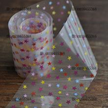 Nail Art Wholesaler Easy DIY Nail art Product Nail Glue Transfer Foil White Matte Base Colorful Small Stars YC425