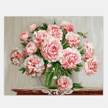 DRAWJOY Framed Picture Painting By Numbers Modern Flower Home Decor For Living Room Hand Unique Gifts GX5581 Picture Wall Art(China)