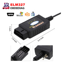 Newest For Ford ELM327 ELM 327 USB FTDI chip with switch for Ford HS CAN and MS CAN car diagnostic cable free Shipping(China)