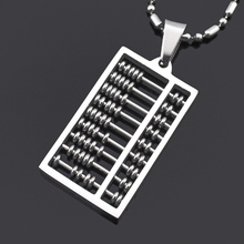 ATGO New Abacus Pendant Necklace 316L Stainless Steel Geometric Maths number High Quality Free Shipping Wholesale BP1277