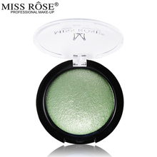 Miss Rose Single Color Baked Eyeshadow Palette Professional Eye Makeup Shimmer Metallic Eye Shadow(China)