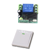 12V Wireless Remote Control Switch System 10A 1CH Receiver Relay Remote Switch Wall Transmitter For Light Gate Curtain Motor