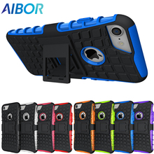 Buy AIBOR Rugged TPU Plastic Hybrid Heavy Duty Armor Phones Case Apple iPhone 4S 5 5S SE 6 6s 7 8 Plus 7Plus X Shock Proof Cover for $1.95 in AliExpress store