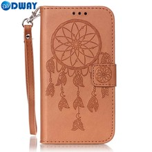 Flower Pattern PU Leather Wallet Flip Book Cover Case for Samsung Galaxy S2 S3 S4 S5 SII SIII SIV Phone Case With Carry Strap