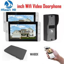 7 inch Monitor SD Card Video Record Wireless WiFi IP Video Doorphone 1V2 Video Intercom Doorbell Support 3G 4G Smart Phone APP