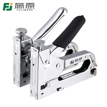 FUJIWARA Nail Stapler Manual Nail Gun Three-use Heavy-Duty Stainless Steel Nail Gun With 800 Staples Attached