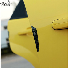 Buy 4pcs/lot carbon fiber Car Door Decoration Strip General universal Crash Bar Anti-Rub Bumper Door side Edge Protection stickers for $1.98 in AliExpress store