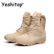 2016 YESHITOP EUR 39-45 Desert Boots Men Military Boots Hiking Boots Winter Shoes Mountaineering