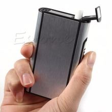 Metal Box Aluminum Pocket Cigarette Case Automatic Ejection Holder-F1FB