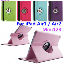 Tablet Case for iPad Air 1 / Air 2 / Mini 1 2 3 Case 360 Rotation Flip PU Leather Smart Case Cover with Stand Function SZEGYCHX