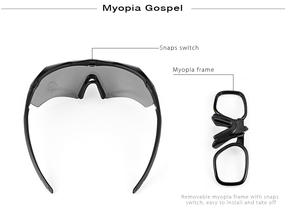 Windproof Cycling Sunglasses Bike Goggles Eyewear Set with Box