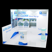 10' Portable fabric trade show displays Booths with custom graphic print counter spotlights pop up stand(China)