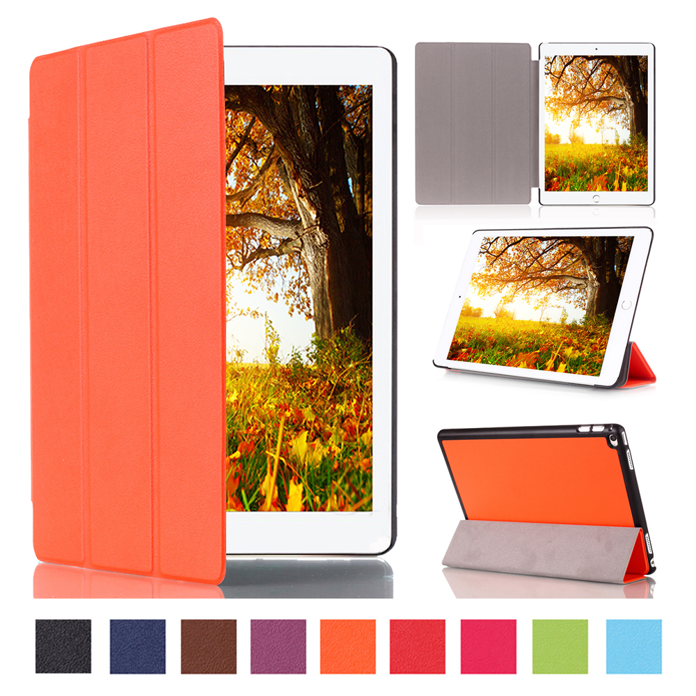 Hot Sale For Apple iPad Pro 12.9 Magnet Flip PU Leather Case Three Folio Foldable Tablet Smart Slim Cover With Wake Up Function<br><br>Aliexpress