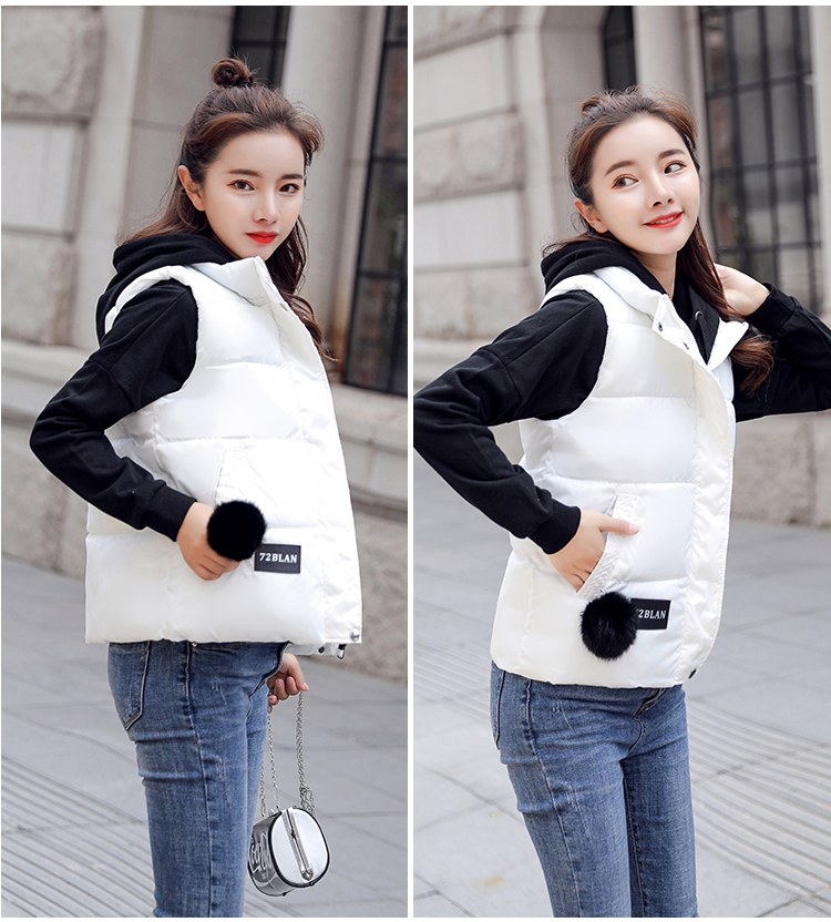 NIJIUDING M-XXXL 2018 New Parka Spring Autumn Slim Velvet Women Vest Jacket Warm Cotton-padded Winter Plus Size Waistcoat female (7)
