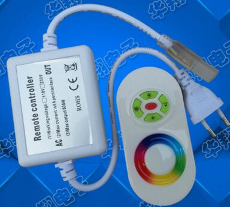 AC 110V 220V RGB LED Controller RF Touch Remote dimmer 750W EU plug/US plug 8mm/10mm PCB connector<br><br>Aliexpress