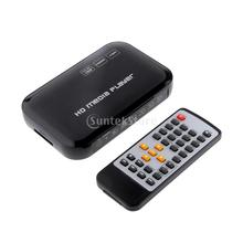 1080P HD Multi TV Media Player USB SD/MMC HDMI UK Plug(China)