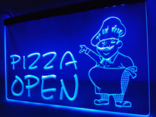 LB183- OPEN Pizza  Cafe Restaurant   LED Neon Light Sign     home decor  crafts