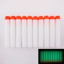50 Pcs Glow Soft Bullet for Nerf Blasters Kids Toy Gun Refill Fluorescent Darts