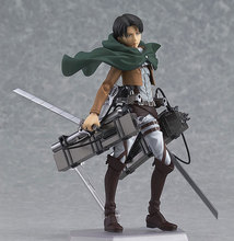 Japan Anime Attack on Titan Shingeki no Kyojin Rivaille Figma 213 Boxed PVC Action Figure Model Doll Kids Toys Gift 15CM