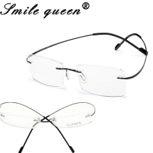 Retail 7 Colors Ultra-Light Rimless Clear Fashion Glasses Frame Memory Titanium Eyeglasses Frames Optical Frames Oculos De Grau