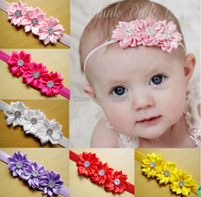 satin ribbon flowers headbands newborn headbands toddle headbands children hair accessories