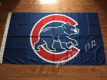 3x5ft Chicago Cubs Major League Baseball MLB pennant 90 * 150 CM MLB Sports Events banner decoration free shipping