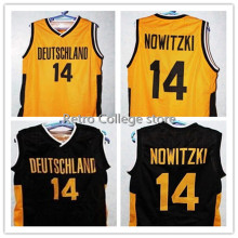 #14 Dirk Nowitzki TEAM DEUTSCHLAND GERMANY Basketball Jersey black Gold Throwback Mens XXS-6XL Retro throwback stitched embroide