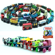 10PCS  Thomas and His Friends Wooden Magnetic Trains Toy Model Great Kids Christmas Gifts Toys for Children Free Shipping