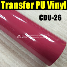 Free shipping CDU-26 rose red heat transfer PU vinyl for t shirts,high-quality heat transfer vinyl,transfer vinyl 50X100CM/LOT