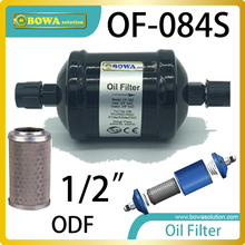 OF084S Oil filter is recommended for HFC/POE systems instead of individual oil strainers, where filtration only is required.
