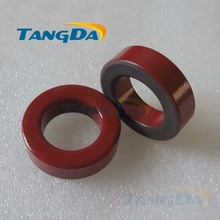 Tangda Iron powder cores T141-2 OD*ID*HT 36*22*10.5 mm 9.5nH/N2 10uo Iron dust core Ferrite Toroid Core Coating Red gray