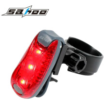 50pcs/lot SAHOO 15lm Waterproof Safety Security Sports Arm Seat Post Cycling Light Bike Seatpost Rear Tail Lamp 3 leds