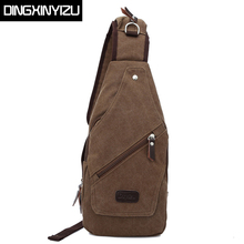 DINGXINYIZU Vintage Men Military Messenger Bag Casual Travel Rucksack Chest Bag Canvas Small Crossbody Shoulder Back Pack bolsas