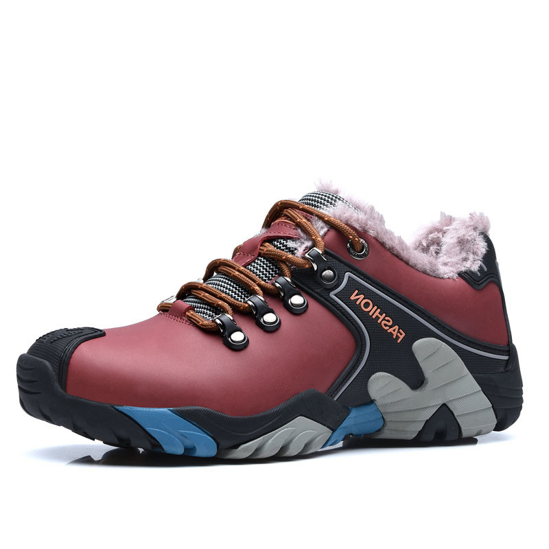 New arrival winter hiking shoes warm plush outdoor men&amp;women shoes antiskid waterproof quality climbing shoes <br><br>Aliexpress