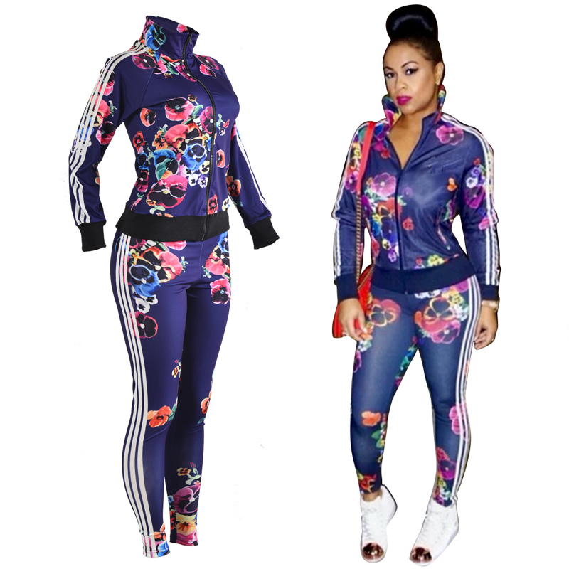Sexy Tops Jacket + Long Pants Women 2 Piece Pants Set Woman Long Sleeve Zipper Autumn Two Piece Sets Sweat-shirt Track-Suits vs