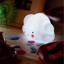 Lumiparty Novelty Cloud Smile Face Night Light Childrens Bedroom Nursery Night Lamp Mini Cloud Light Emitting  Room Decor