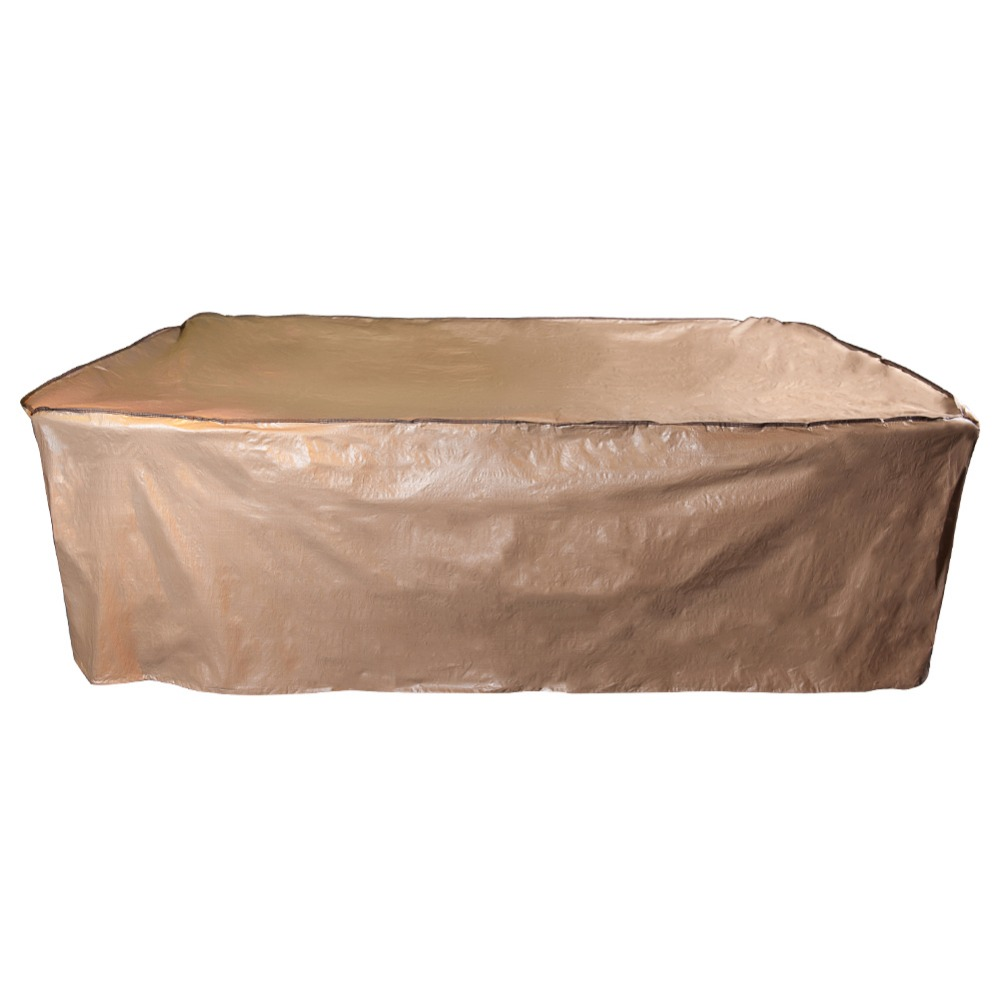 Abba Patio Outdoor/Porch Rectangular Table and Chair Set Cover, Water proof, All Weather Protection, Tan, 92L x 60W x 36H<br>