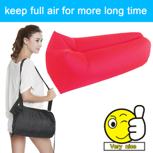 Outdoor Air Sleep Couch Portable Furniture Imitate Nylon for Summer Camping Beach Indoor Sleeping bag sofa Hangout Lounger