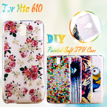 Painted Soft TPU Silicone Phone Cases For HTC Desire 610 4.7 inch 610t D610T Cases Covers Housing Gel Phone Bags Shell Skin