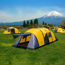 Camping Tent 3-10 Persons Waterproof Inflatable Tent Family Outdoor Picnic BBQ Travel Sun Shelter