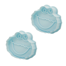 4 pcs/set  3D Sesame Street Fondant Cookie Cutter Biscuit Hand Stamp Press Plunger Mould Useful Baking Tool