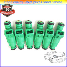 6 Pieces Flow Matched Fuel Injector 0280155968For Chevrolet  Jeep Ford Audi VW Pontiac Buick Chrysler GMC BMW Dodge Mitsubishi